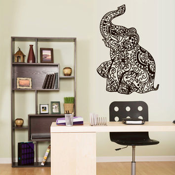 Wall Vinyl Sticker Decals Decor Art Bedroom Design Mural Ganesh Om Elephant Tattoo Mandala Tribal (z3161)