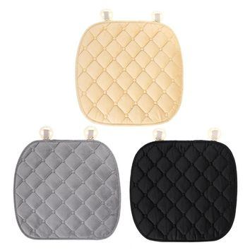 Plush Non-slip Car Cushion Keep Warm Diamond Car Seat Cover Mat for Interior Car Accessories Wistiti for Winter ME3L