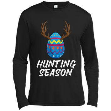 Hunting Season Easter Shirt Egg Hunter Kids Gift Long Sleeve Moisture Absorbing Shirt