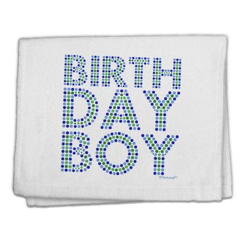 "Birthday Boy - Blue and Green Dots 11""x18"" Dish Fingertip Towel by TooLoud"