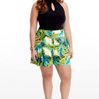 Plus Size Maui Tropical Halter Romper | Fashion To Figure
