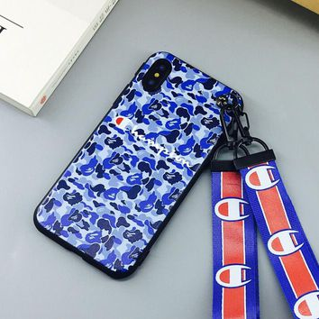 Camouflage Pattern Case for iPhone X 8 7 6S Plus &Gift Box
