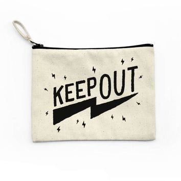 Keep Out Canvas Pouch