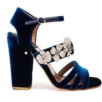 Laurence Dacade Velvet Jasmine Sandals - Browns - Farfetch.com