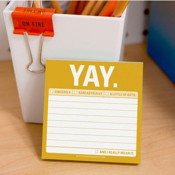 YAY Sticky Notepad