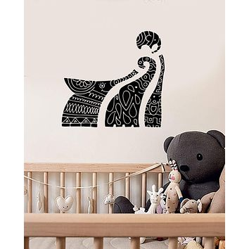 Vinyl Wall Decal Elephant Family Ornament Animals Nursery Kids Room Stickers Mural (ig5638)