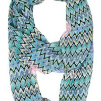 Laney Floral Chevron Infinity Scarf