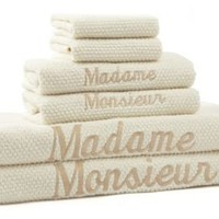 One Kings Lane - Bath Bazaar - Peacock 6-Pc Madame & Monsieur Towel Set