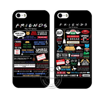 FRIENDS FUNNY TV SHOW LOGO NOVELTY Case Cover for Apple iPhone 4 4S 5 5S SE 5C 6S 6 7 Plus 6SPlus