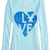 AEO Women's Factory Long Sleeve Graphic T-shirt