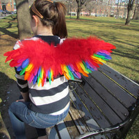 Rainbow Costume Wings for Pride, Cosplay, Halloween, Parties, Raving and more!