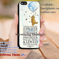Always Remember Winnie The Pooh Quotes iPhone 6s 6 6s+ 5c 5s Cases Samsung Galaxy s5 s6 Edge+ NOTE 5 4 3 #quote dl14