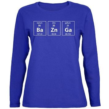 Bazinga Periodic Table Womens Long Sleeve T Shirt