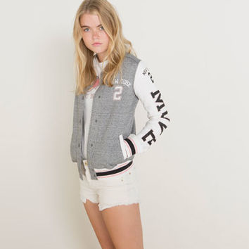 Bershka Netherlands - BSK patch baseball jacket
