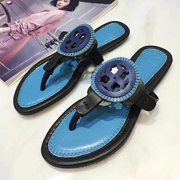 Tory Burch New Fashion Women Leisure Color Matching Beach Home Slippers Sandal Slipper Shoes I-ALS-XZ