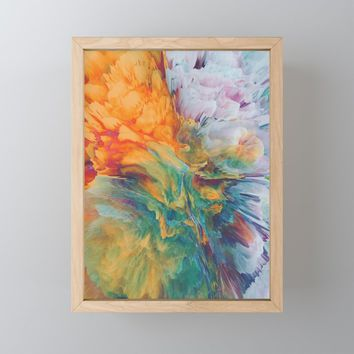 Boom Framed Mini Art Print by duckyb