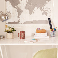 Clear World Scratch Map - Urban Outfitters