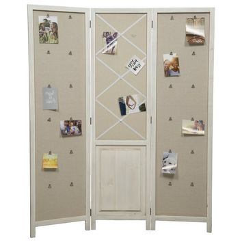 Leela Distressed 3 Panel Room Divider