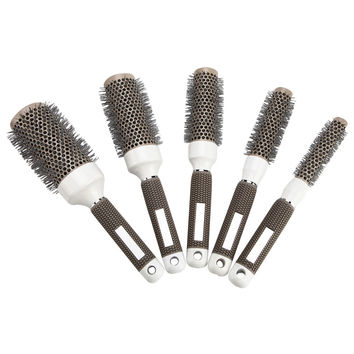 19mm 25mm 32mm 45mm 53mm Ceramic Iron Radial Roll Round Comb Hair Dressing Brush Pro hair Salon Styling Shaping Barrel Equipment