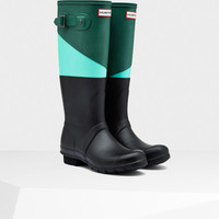 Women's Asymmetric Color Block Rain Boots