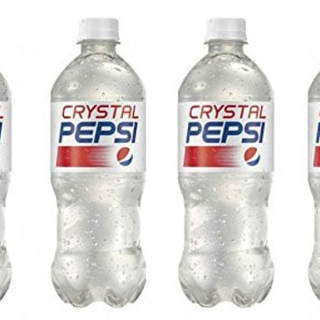 Crystal Pepsi 4 Pack 20fl oz Bottles 2016 Edition