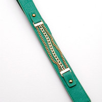 Unchained Love Belt - Green/Gold