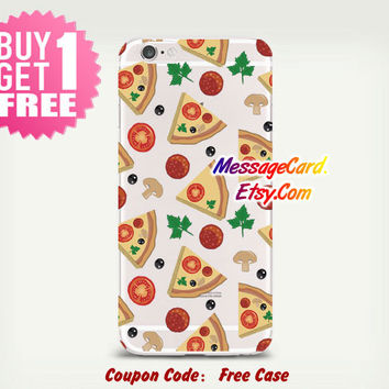 Pizza Clear Phone Case Cover , Crystal Clear iPhone 6 6s Case , Custom Clear iPhone 6 6s Case , Cool iPhone Case , Transparent Case
