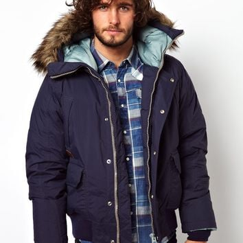 G-Star Quilted Bomber Jacket Mountain Hooded Down Filled