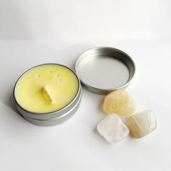 Manifest ~ Soy Intention Candle, Essential Oil