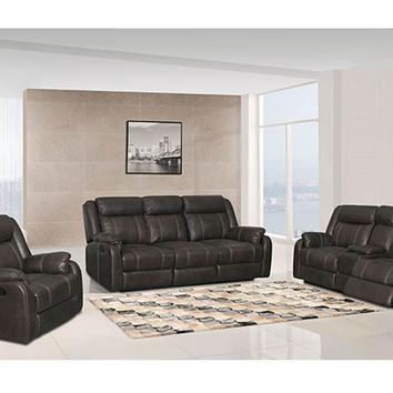 7303 Gin Rummy Charcoal Reclining Console Loveseat