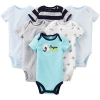 Child of Mine by Carter's Newborn Baby Boy Assorted Bodysuits, 6-Pack - Walmart.com