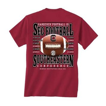 2014 Gamecock Football Schedule T-Shirt | Palmetto Moon