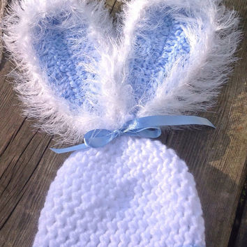 Baby boys/girls bunny rabbit Hat, floppy bunny ears, Easter hat, baby gift photo prop