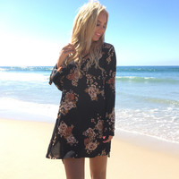Fall's Floral Shift Dress