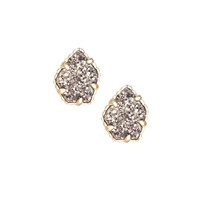 Kendra Scott:Tessa Stud Earrings in Platinum Drusy