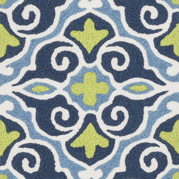 "Angelou Blue / Green 1'9"" X 2'9"" Rug"