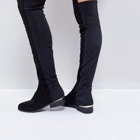 ASOS KNIGHT Stretch Over The Knee Boots at asos.com