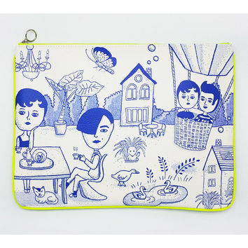 Oohlala Aurore landscape big clutch bag