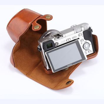 Sony Protective Leather Camera Case