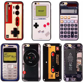 Retro Classical Boy Game Camara Cassette 3D Cartoon Printed Cases for Apple iPhone 6 6s plus 6plus 5 5g 5s se Cell Phone Cases