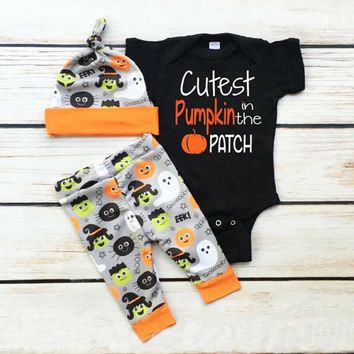 My First Halloween Newborn Baby Boy Girl Romper Jumpsuit Pants Clothes Outfit US