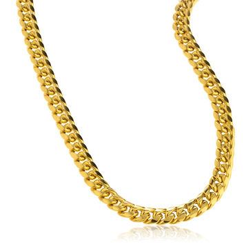 10K Yellow Gold 6mm - 11mm Miami Cuban Chain Necklace 9-30inch