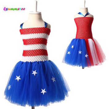 Ksummeree 4th of July Girls Tutu Dress
