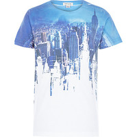 River Island Boys blue city print t-shirt
