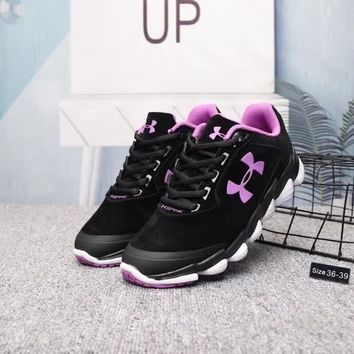 under armour women casual fashion pig leather sneakers running shoes