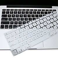 "iMacket ® Keyboard Cover Silicone Skin for MacBook Pro 13"" 15"" 17"" (with or w/out Retina Display) MacBook Air 13"" and iMac Wireless Apple Keyboard (Silver)"