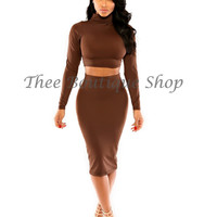 The Classic Turtle Neck Set (Chocolate)