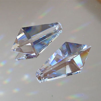 Swarovski Crystal Set of Kite Prism Suncatcher Ornaments, 38mm with logo