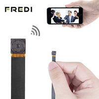 FREDI® HD Mini Super Small Portable Hidden Spy Camera P2P Wireless WiFi Digital Video Recorder for IOS iPhone Android Phone APP Remote View