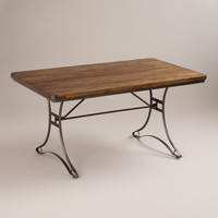 Jackson Rectangular Table with Metal Base - World Market